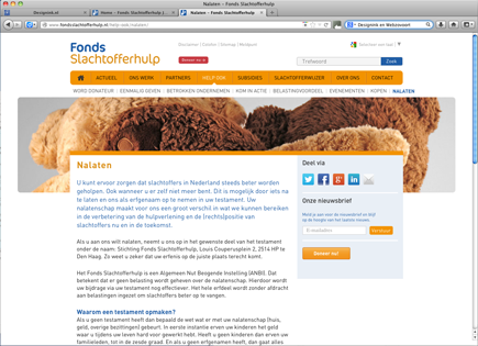 Website Fonds Slachtofferhulp