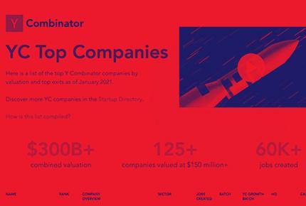 YCombinator companies website